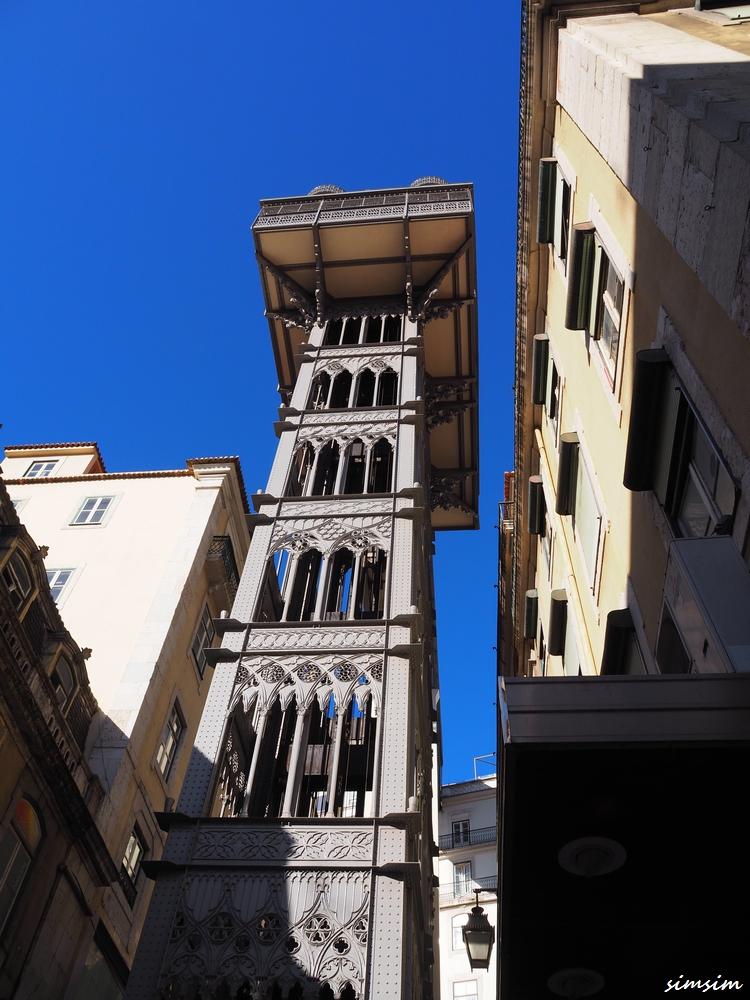 ポルトガルサンタジュスタのエレベーター