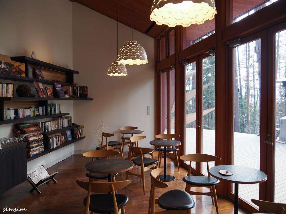 星のや富士ライブラリーカフェ