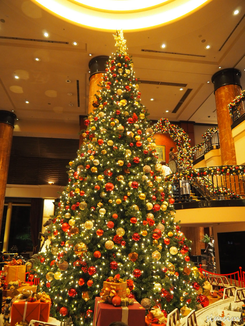 ウェスティンホテル東京のクリスマスツリー