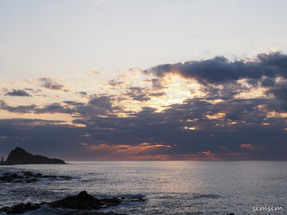 知床オホーツク海夕陽